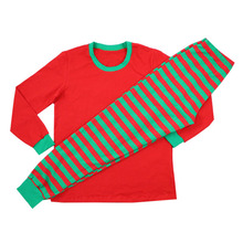 Wholesale children's new style outfit family wear winter clothing stripe fashion christmas kids pajamas