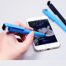 Wholesale multi function phone holder and stylus ballpoint pen with custom logo for Iphone