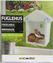 See Through Plastic Window Mirrored Bird House For Kids see