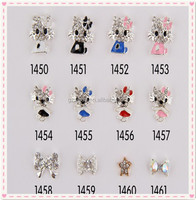 Names Designer Charms Miss Girl Cute Cat Cartoon Nail Supplies Professionals