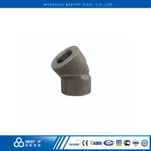 Alloy Steel ASTM A234 Forged Female Threaded 45 Degree Elbow Pipe Fitting