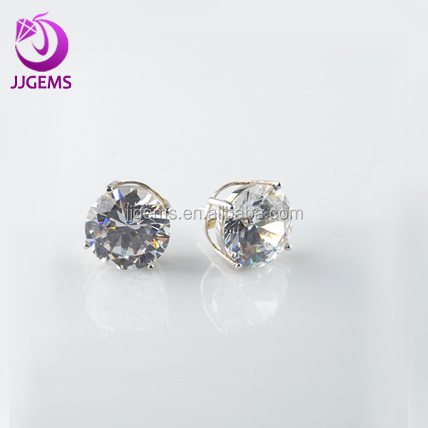 2014 fashion earrings with white round cz