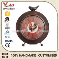 Cheap Customized Logo Creative Items Antique Iron Funny Desk Clocks