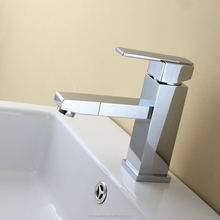 2018 Single Handle Hot and Cold Water Supplied Brass Faucet with Swivel Spout