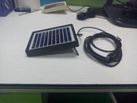 5v 500ma mini poly solar panel with black abs frame