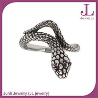 Junli jewelry sales promotional fashion animal stainless steel snake shaped rings
