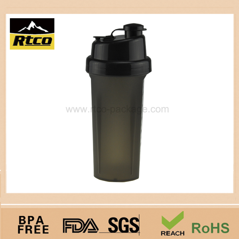Fashion portable personalized plastic sports protein drinking liquid shaker mug cup item No.SHK-013