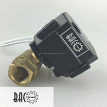 "BACO1"" DN205DC9-24V Electric Ball Valve, Brass Motorized Ball Valve,CR-04Wires"