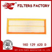 High Quality Air Filter Element Car Air Intake Filter Auto Filters In China 1K0129620D