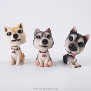 OEM resin shaking head dog figurines polyresin miniature cartoon bobble head figure in factory price