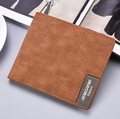 New short wallet men's fashion casual canvas bag