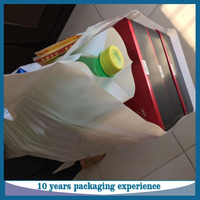 High quality HDPE die cut handle bag pizza delivery bag plastic packaging bag for pizza take away