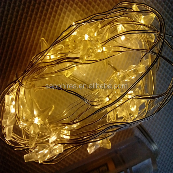 led star christmas copper wire string light for home decoration,party,office,hotel