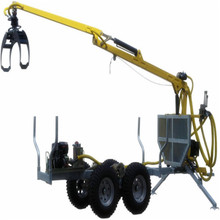 3 tons log loader trailer with crane
