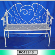 Best Selling Decoration Park Bench White Curved Outdoor Bench