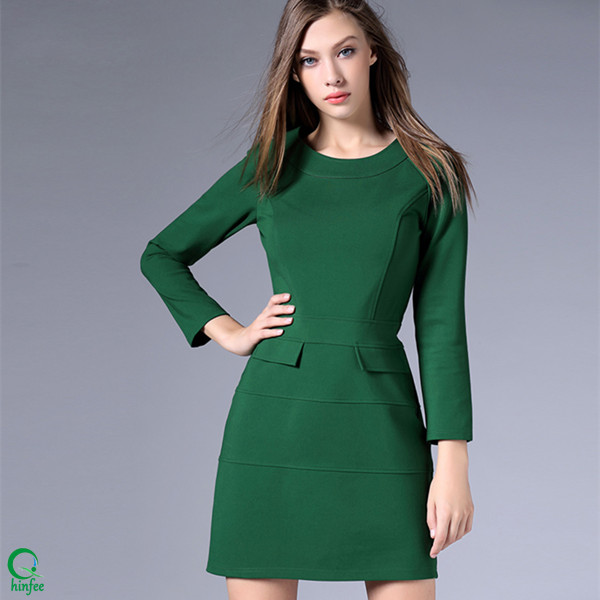 D411 Clothing Manufacturer Latest Design Dresses Women Office Wear