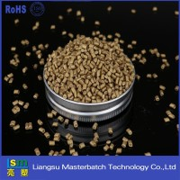 Manufacturer direct promotion Golden masterbatch pvc/pe/pp/pc plastic pellets of film/blowing molding
