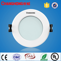 built-in led driver alumminum round shape led downlight dimmable