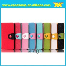 Color blocking leather flip case for samsung galaxy mini s5570