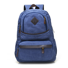 alibaba shopping custom high quality vintage canvas backpack wholesale