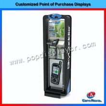 Wholesale security wood display stand for mobile phone