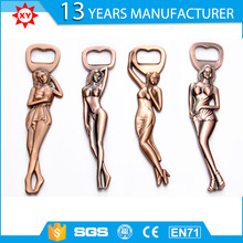 factory manufacture 3D shape sexy lady metal beer opener