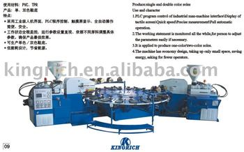 Full automatic two-color soles injection molding machine
