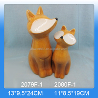Wholesale personalized ceramic fox ornament for home decor