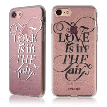 C&T Dual-layer IMD Design Bling Sparkly Glitter Flash Ultra Slim TPU Protective Cover Case For Apple iphone 7(4.7'')