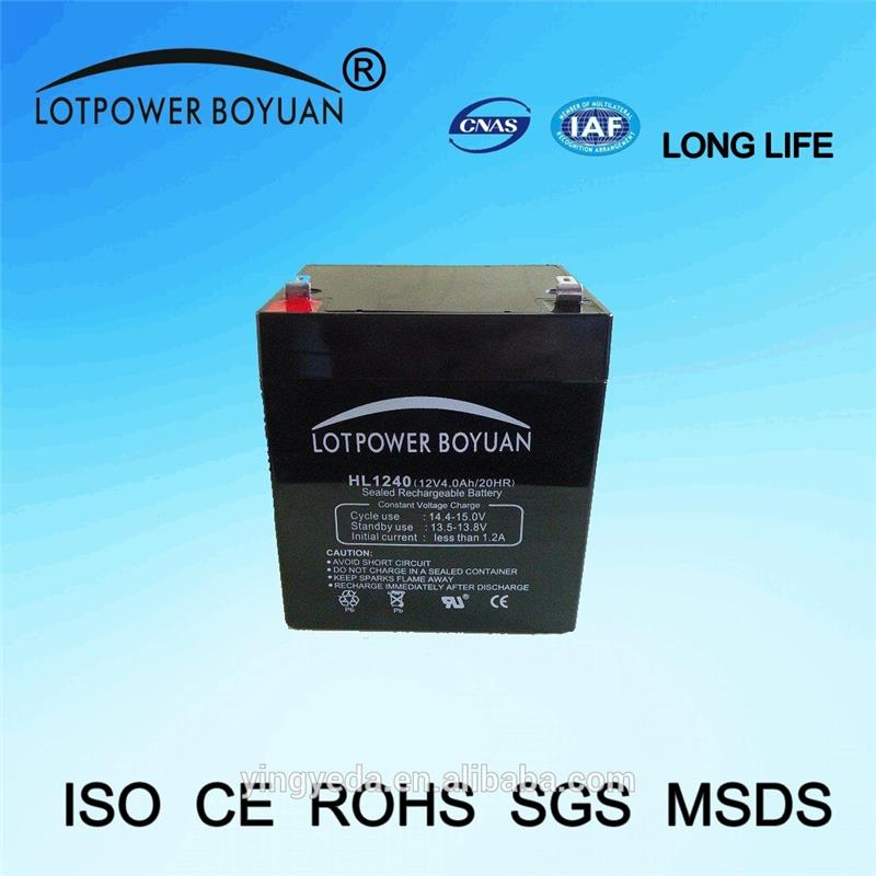 rechargeable battery generator charging flashing 12v 4ah single led lights battery ups system battery factory