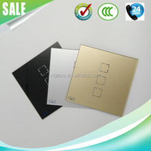 High quality two color print light switch glass