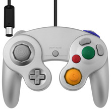 For Wii Gamecube Silver Vibration Controller