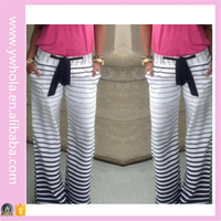 Wholesale Ladies Fashion Striped Trousers Printing Women Loose Pajama Zhejiang Yoga Pants