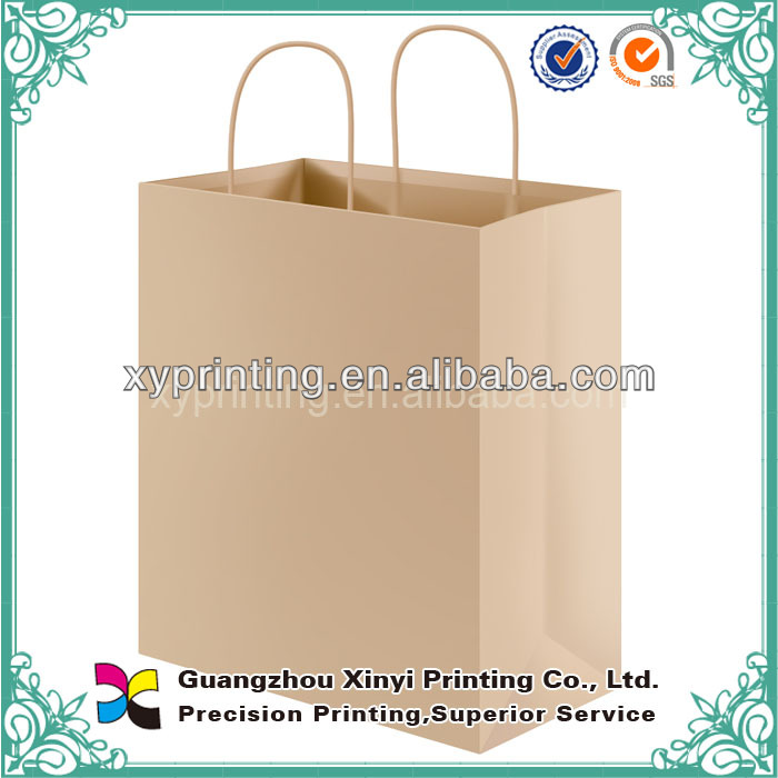 Cheap Glossy Recycle Kraft Smart Shopping Paper Bag