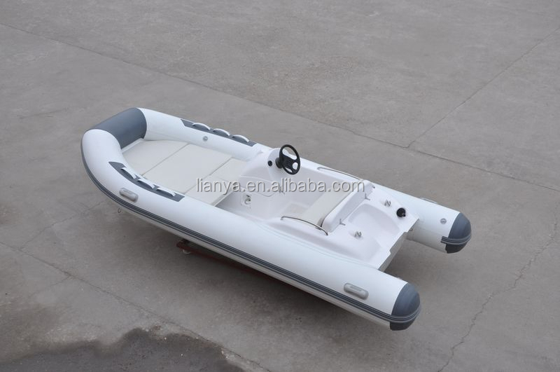 Liya 4.3m pleasure fishing boat inflatable outboard motor boat small RHIB for sale