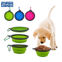Custom Feeding Travel Food Silicone Collapsible Dog Bowl, Pet Water Bowl