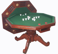 Octagon wood poker table