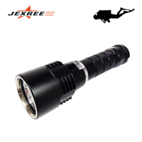 JEXREE D13 CE RoHS IP68 Waterproof 100m Submerged Depth LED Underwater Diving Light Torch