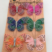 New Product Colourful Artificial Flying Butterfly Home Decoration
