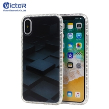 Gold supplier fashion cube customized shock proof case cover for iPhone X