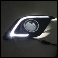 For 2014+ Mazda 3 Axela LED Daytime Running Light Mazda3 DRL Cover Fog Lamp