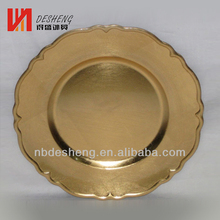 gold charger plate plastic with diamond