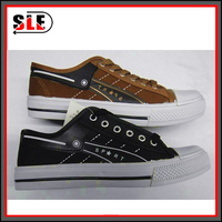 trade promotion canvas shoes, provide proofing, can make custom design