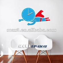 25A003 New design superman kids room decoration DIY sticker wall clock