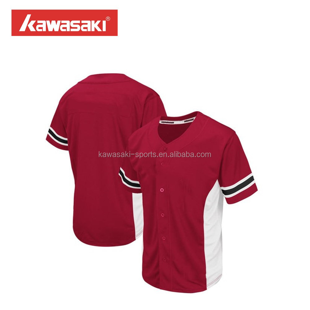 Hot sale red blank classic sublimation baseball jersey