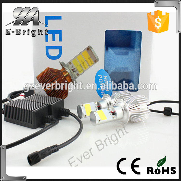LED motorcycle headlamp COB led car headlight 24W H1 H3 H4 H7 H8 H9 H10 H11 H13 9005 9006 50w led headlight 2400L led headlight