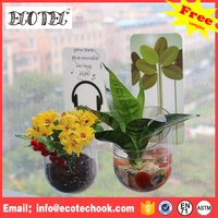 Magnetic sticker decortaive flower pot magic flower pot