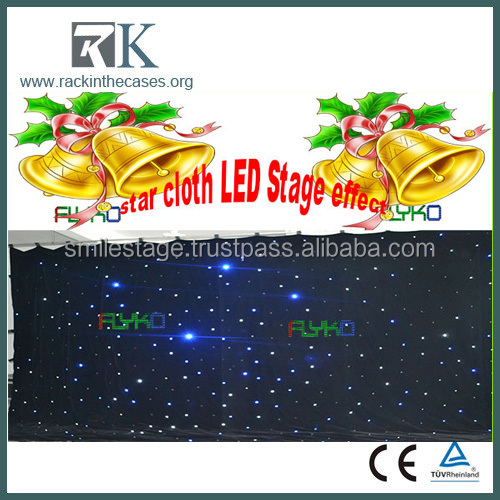 2014 New design LED velvet curtain fabric for stage backdrop decoration drapery