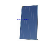 Flat plate panel solar thermal collector blue Titanium
