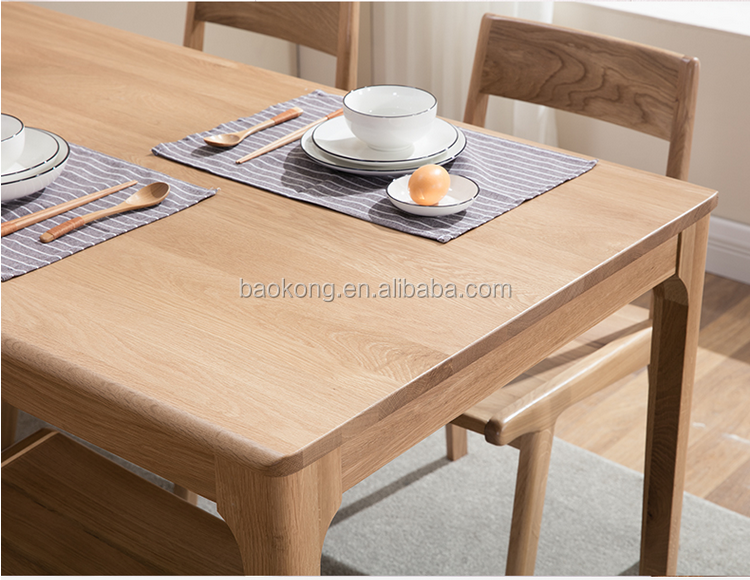 Solid Wood Furniture Dining Table And Chair Set